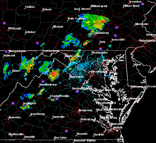 Radar Image for Severe Thunderstorms near Antietam, MD at 7/30/2019 4:41 PM EDT