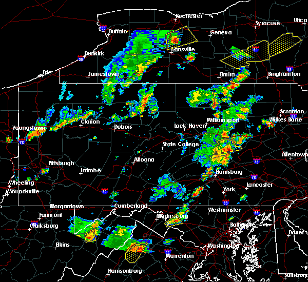 Radar Image for Severe Thunderstorms near Kulpmont, PA at 7/30/2019 4:42 PM EDT