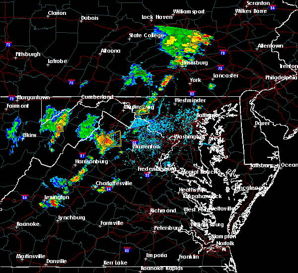 Radar Image for Severe Thunderstorms near Antietam, MD at 7/30/2019 4:54 PM EDT