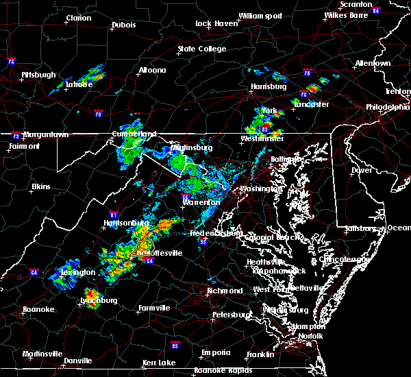 Radar Image for Severe Thunderstorms near Ruckersville, VA at 7/30/2019 6:42 PM EDT