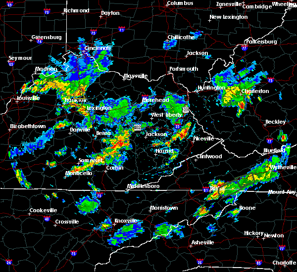 Radar Image for Severe Thunderstorms near Prestonsburg, KY at 7/30/2019 6:50 PM EDT