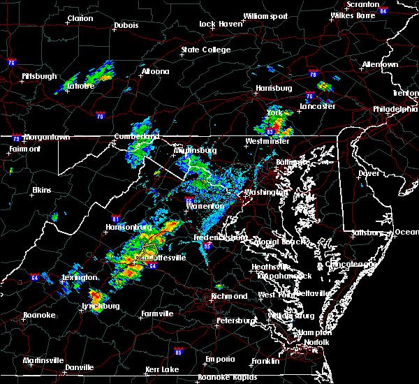Radar Image for Severe Thunderstorms near Ruckersville, VA at 7/30/2019 6:55 PM EDT