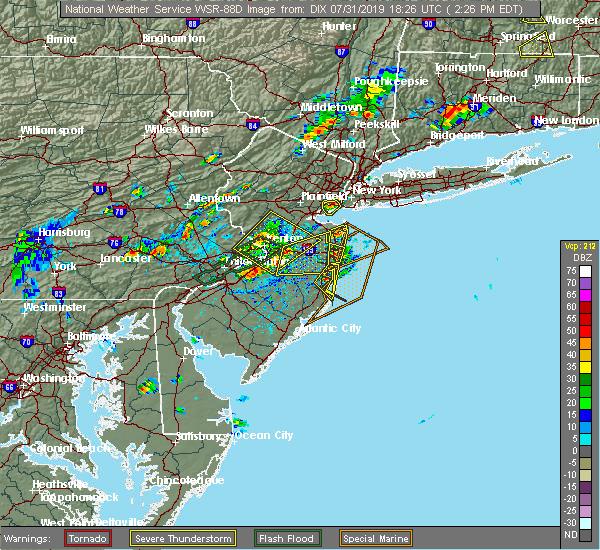 Radar Image for Severe Thunderstorms near Silver Ridge, NJ at 7/31/2019 2:32 PM EDT