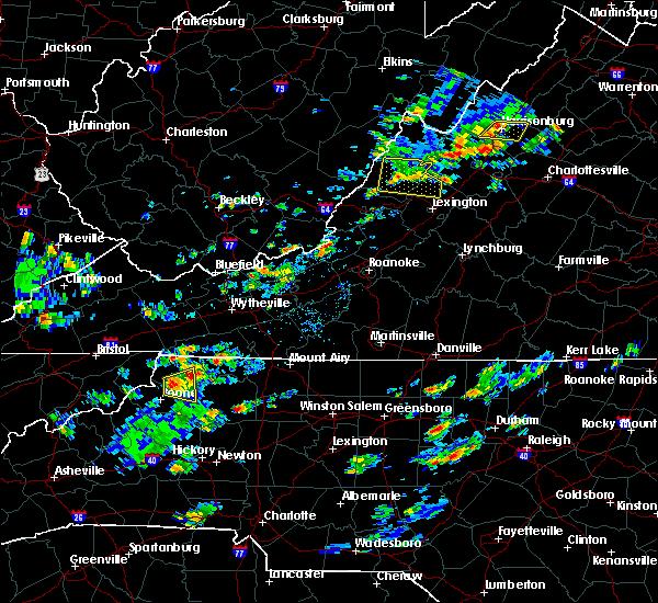 Radar Image for Severe Thunderstorms near Goshen, VA at 7/31/2019 2:56 PM EDT