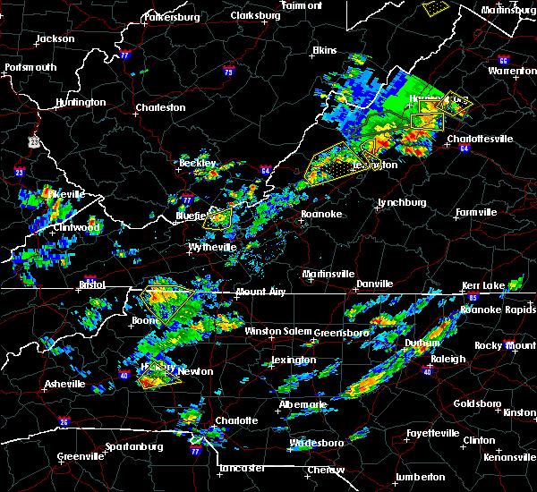 Radar Image for Severe Thunderstorms near Goshen, VA at 7/31/2019 3:41 PM EDT