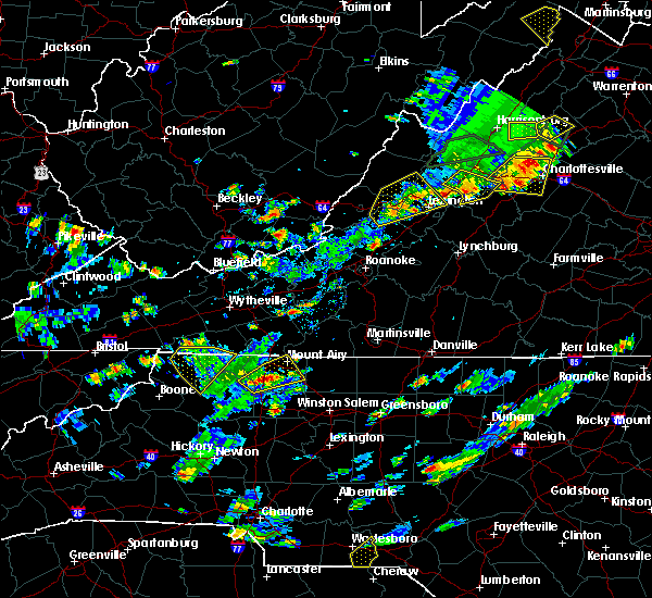 Radar Image for Severe Thunderstorms near Sparta, NC at 7/31/2019 4:09 PM EDT
