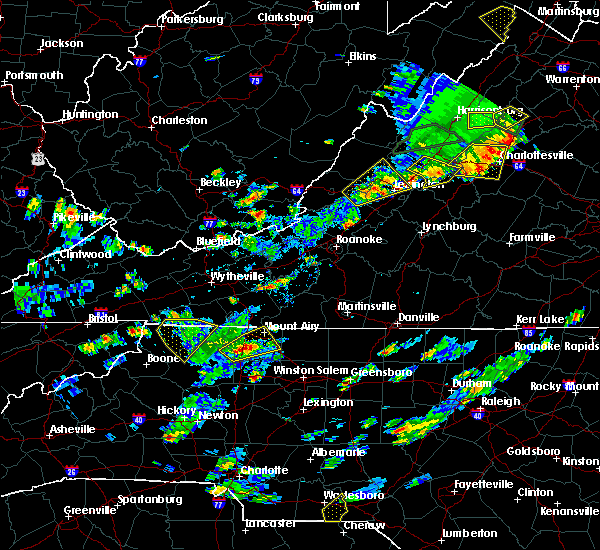 Radar Image for Severe Thunderstorms near Sparta, NC at 7/31/2019 4:12 PM EDT