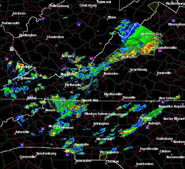 Radar Image for Severe Thunderstorms near Goshen, VA at 7/31/2019 4:12 PM EDT