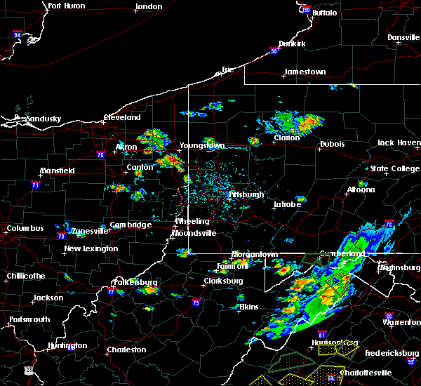Radar Image for Severe Thunderstorms near Calcutta, OH at 7/31/2019 4:14 PM EDT