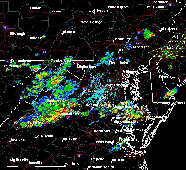 Radar Image for Severe Thunderstorms near Orange, VA at 7/31/2019 4:29 PM EDT