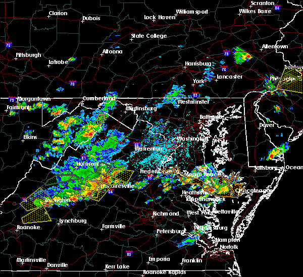 Radar Image for Severe Thunderstorms near Orange, VA at 7/31/2019 4:35 PM EDT