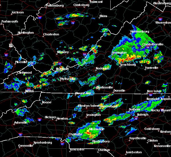 Radar Image for Severe Thunderstorms near Nathalie, VA at 7/31/2019 7:05 PM EDT