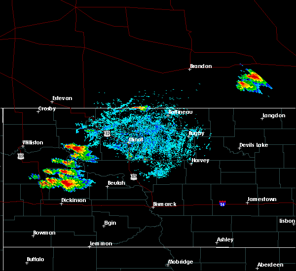 Radar Image for Severe Thunderstorms near Parshall, ND at 7/31/2019 7:07 PM CDT