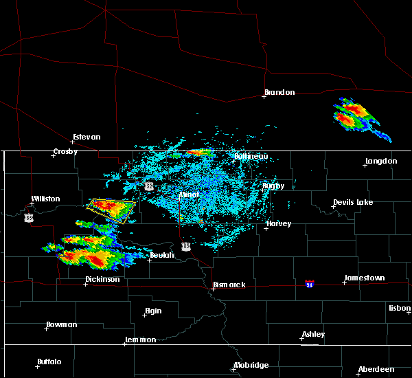 Radar Image for Severe Thunderstorms near Parshall, ND at 7/31/2019 7:23 PM CDT