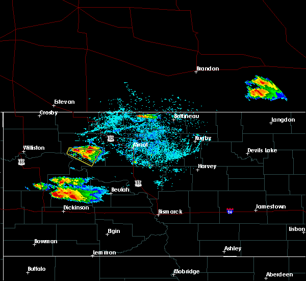 Radar Image for Severe Thunderstorms near Des Lacs, ND at 7/31/2019 7:46 PM CDT