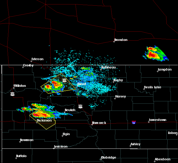 Radar Image for Severe Thunderstorms near Des Lacs, ND at 7/31/2019 8:10 PM CDT