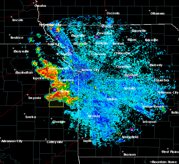 Radar Image for Severe Thunderstorms near Welda, KS at 7/31/2019 10:33 PM CDT