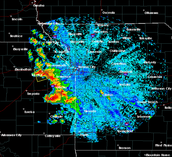 Radar Image for Severe Thunderstorms near Welda, KS at 7/31/2019 10:58 PM CDT