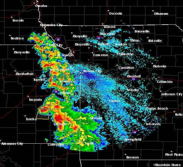 Radar Image for Severe Thunderstorms near Gas, KS at 8/1/2019 1:01 AM CDT