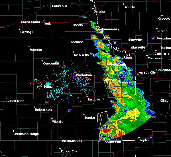 Radar Image for Severe Thunderstorms near Overbrook, KS at 8/1/2019 2:29 AM CDT