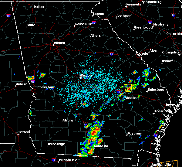 Radar Image for Severe Thunderstorms near Swainsboro, GA at 8/1/2019 12:52 PM EDT