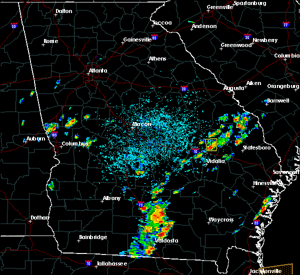 Radar Image for Severe Thunderstorms near Swainsboro, GA at 8/1/2019 1:10 PM EDT