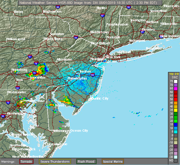 Radar Image for Severe Thunderstorms near Fivepointville, PA at 8/1/2019 2:35 PM EDT