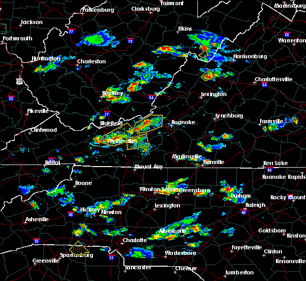 Radar Image for Severe Thunderstorms near Belspring, VA at 8/1/2019 4:45 PM EDT