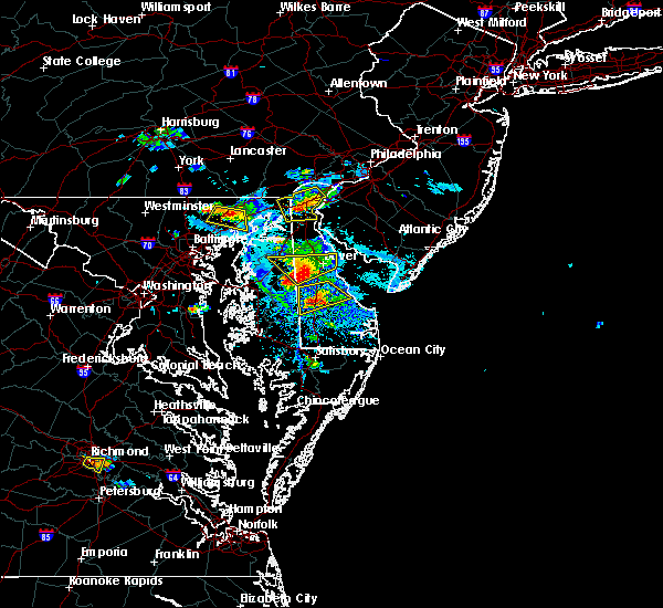 Radar Image for Severe Thunderstorms near Dover, DE at 8/1/2019 4:59 PM EDT