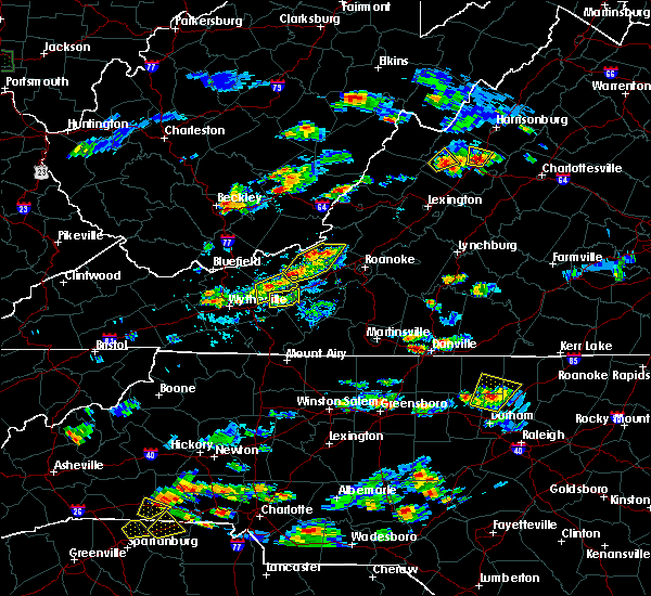 Radar Image for Severe Thunderstorms near Hiwassee, VA at 8/1/2019 5:10 PM EDT