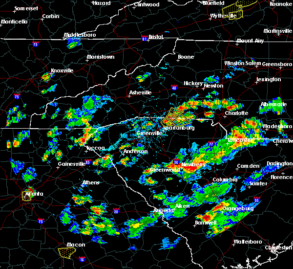 Radar Image for Severe Thunderstorms near Mooresboro, NC at 8/1/2019 5:15 PM EDT