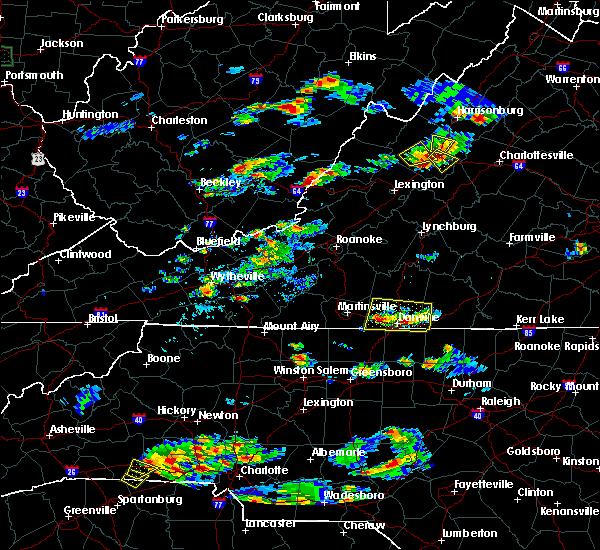 Radar Image for Severe Thunderstorms near Waynesboro, VA at 8/1/2019 5:35 PM EDT