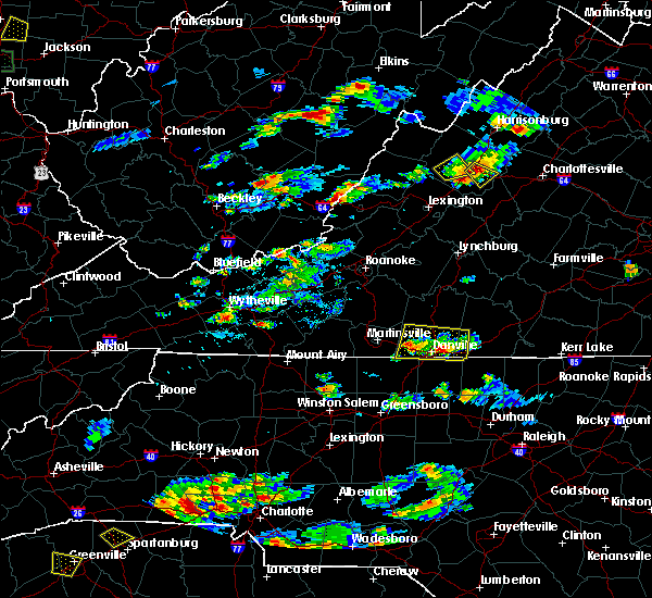 Radar Image for Severe Thunderstorms near Blairs, VA at 8/1/2019 5:43 PM EDT