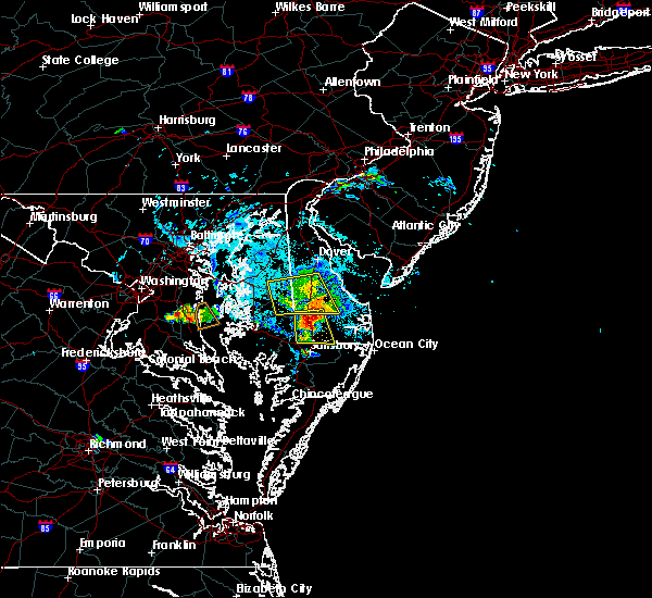 Radar Image for Severe Thunderstorms near Mardela Springs, MD at 8/1/2019 5:47 PM EDT