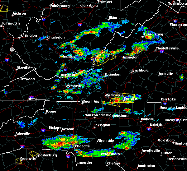 Radar Image for Severe Thunderstorms near Wintergreen, VA at 8/1/2019 6:06 PM EDT