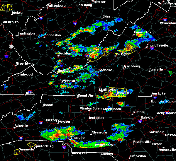 Radar Image for Severe Thunderstorms near Blairs, VA at 8/1/2019 6:08 PM EDT