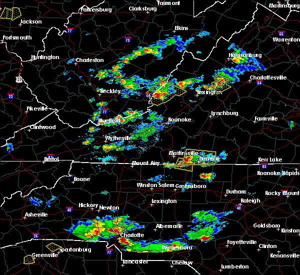 Radar Image for Severe Thunderstorms near Waynesboro, VA at 8/1/2019 6:10 PM EDT