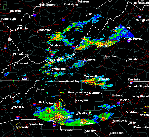 Radar Image for Severe Thunderstorms near Wintergreen, VA at 8/1/2019 6:40 PM EDT