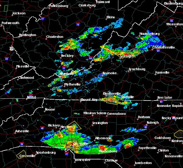 Radar Image for Severe Thunderstorms near Sandy Level, VA at 8/1/2019 6:43 PM EDT