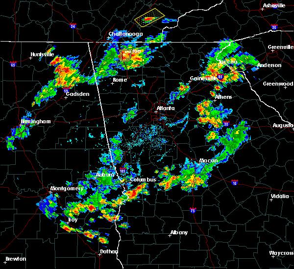 Radar Image for Severe Thunderstorms near Columbus, GA at 8/1/2019 6:58 PM EDT