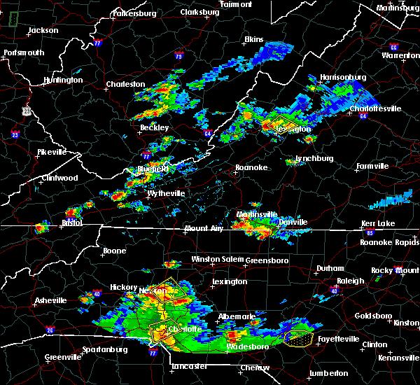 Radar Image for Severe Thunderstorms near East Lexington, VA at 8/1/2019 7:09 PM EDT