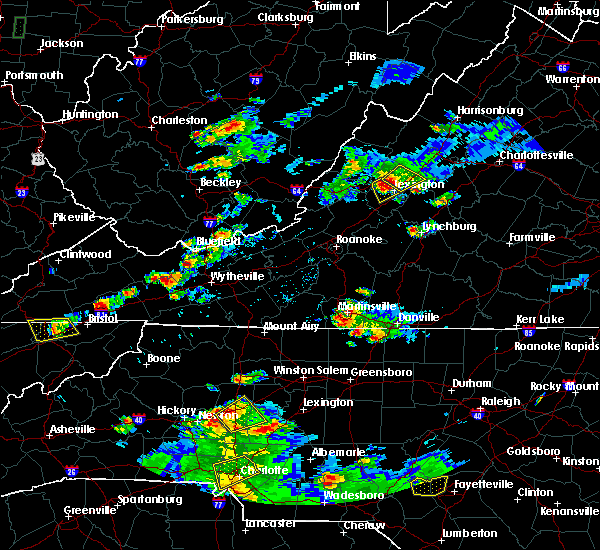 Radar Image for Severe Thunderstorms near Statesville, NC at 8/1/2019 7:18 PM EDT