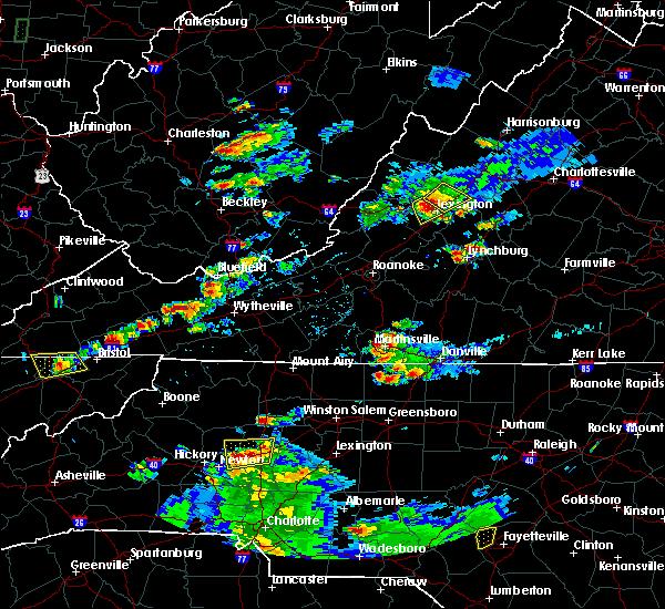 Radar Image for Severe Thunderstorms near East Lexington, VA at 8/1/2019 7:28 PM EDT