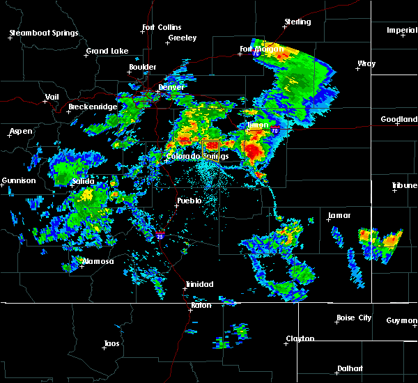 Radar Image for Severe Thunderstorms near Ramah, CO at 8/1/2019 5:54 PM MDT