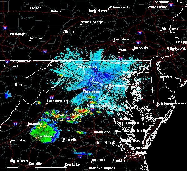 Radar Image for Severe Thunderstorms near Louisa, VA at 8/1/2019 9:18 PM EDT