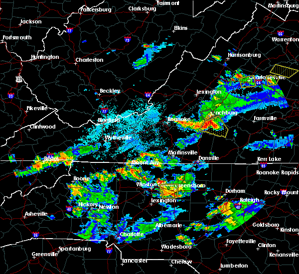 Radar Image for Severe Thunderstorms near High Point, NC at 8/1/2019 9:24 PM EDT