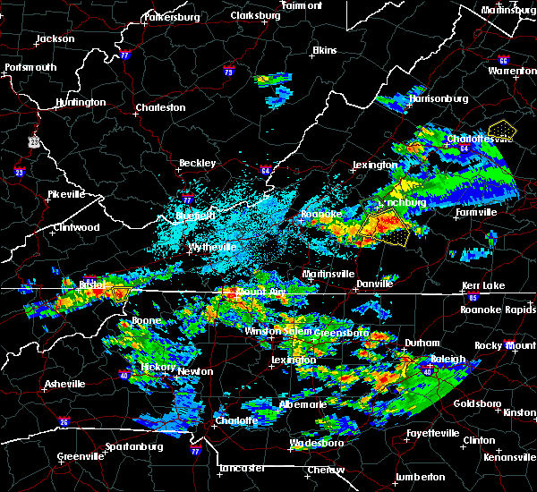 Radar Image for Severe Thunderstorms near Mountain City, TN at 8/1/2019 9:52 PM EDT
