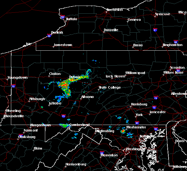 Radar Image for Severe Thunderstorms near Big Run, PA at 8/2/2019 10:58 AM EDT