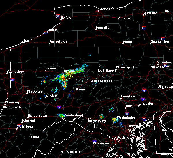Radar Image for Severe Thunderstorms near Grampian, PA at 8/2/2019 11:20 AM EDT