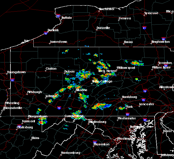Radar Image for Severe Thunderstorms near Williamsport, PA at 8/2/2019 1:30 PM EDT